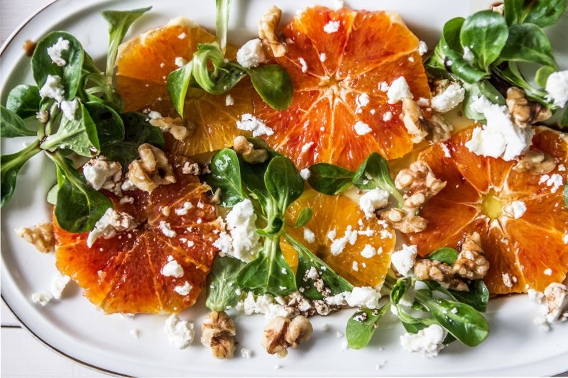 Orange and feta salad